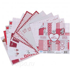 Это-моя любовь Me to you Набор бумаги двусторонней для скрапбукинга, кардмейкинга Арт Узор