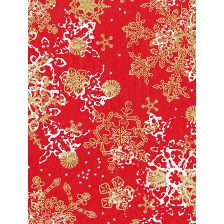 Снежинки на красном Бумага для декопатча Decopatch