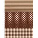 Полоска/ Горох/ Клетка коричневая Бумага для декопатча Decopatch
