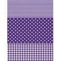 Полоска/ Горох/ Клетка фиолетовая Бумага для декопатча Decopatch