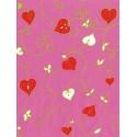 Листочки на розовом Бумага для декопатча Decopatch