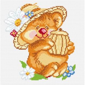 Мишка с бочонком Набор для вышивания МП Студия