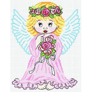 Ангел в розовом Набор для вышивания МП Студия