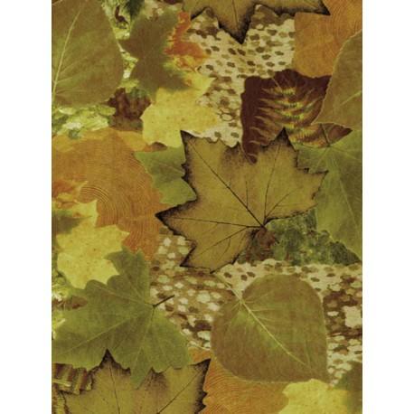 Осень листья коричнево-зеленые Бумага для декопатча Decopatch