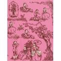 19 век черно-розовый Бумага для декопатча Decopatch
