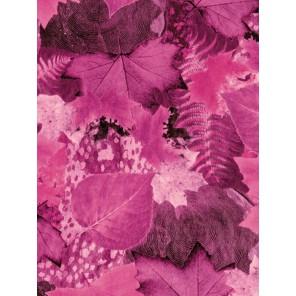 Листья осень розовые Бумага для декопатча Decopatch