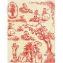 19 век красно-бежевый Бумага для декопатча Decopatch