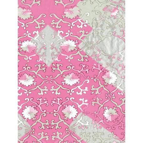 Лоскуты/ Цветочки розовые Бумага для декопатча Decopatch