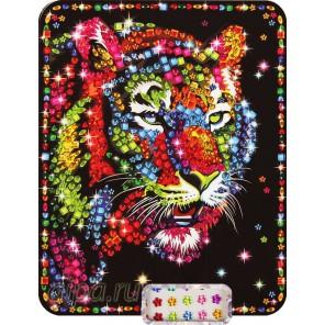 Тигр Алмазная вышивка мозаика из кристаллов на картоне