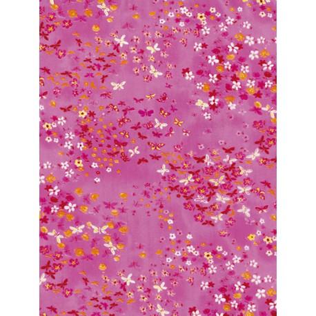 Цветочки на розовом Бумага для декопатча Decopatch