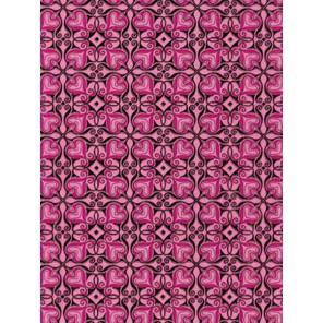 Cердечки черно-розовые Бумага для декопатча Decopatch
