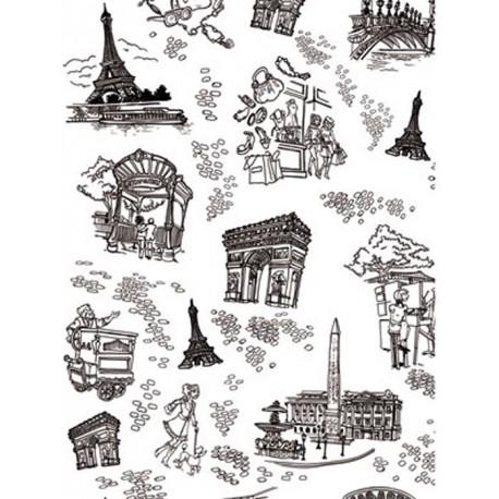 Париж черно-белый Бумага для декопатча Decopatch
