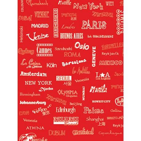 Название городов на красном Бумага для декопатча Decopatch