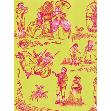 19 век малиново-салатовый Бумага для декопатча Decopatch