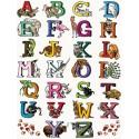 Алфавит английский Бумага для декопатча Decopatch
