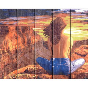 Гранд Каньон Картина по номерам на дереве Dali