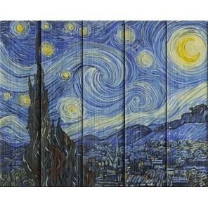 Звездная ночь. Винсент Ван Гог Картина по номерам на дереве Dali