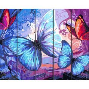 Бабочки Картина по номерам на дереве Dali