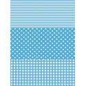 Полоска/ Горох/ Клетка голубой Бумага для декопатча Decopatch
