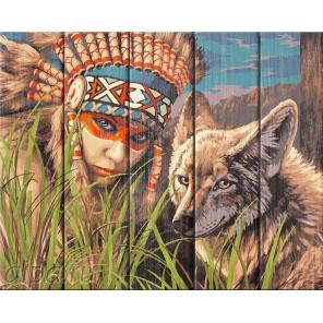 Легенда о койоте Картина по номерам на дереве Dali