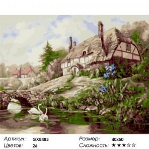 Уютный домик Карла Валенте Раскраска картина по номерам на холсте