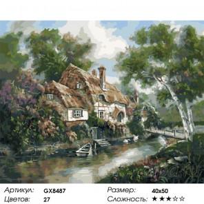 Домик у реки Карла Валенте Раскраска картина по номерам на холсте