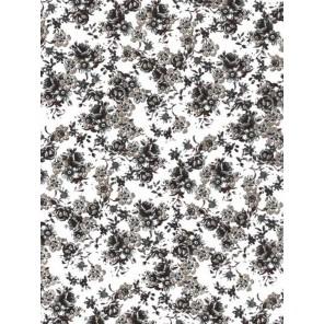 Цветочки черно-белые Бумага для декопатча Decopatch