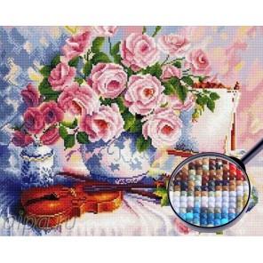 Розы и скрипка Алмазная мозаика вышивка Painting Diamond