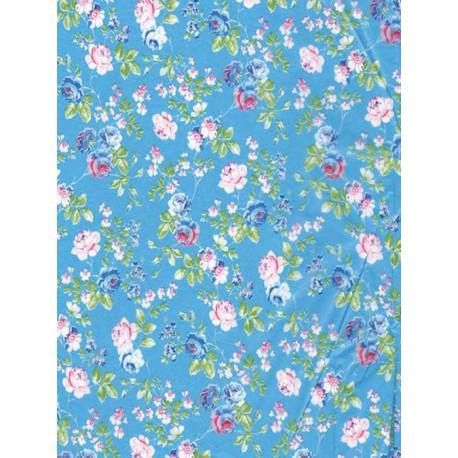 Розы на голубом Бумага для декопатча Decopatch