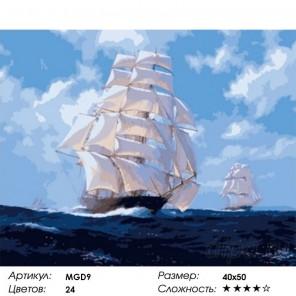 По волнам  Раскраска картина по номерам на холсте Menglei