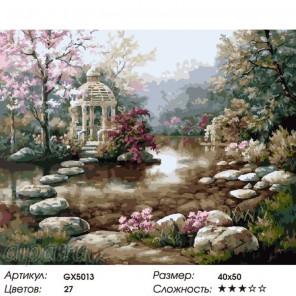 Весеннее уединение Раскраска картина по номерам на холсте