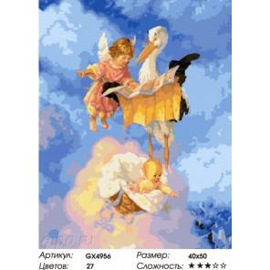 Аист прилетел Раскраска картина по номерам на холсте