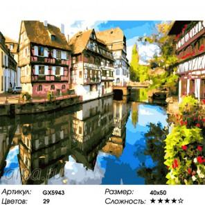 Солнечный Страсбург Раскраска картина по номерам на холсте
