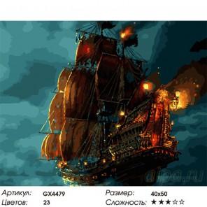 Ночной бой Раскраска картина по номерам на холсте