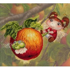 Яблочная феечка  Набор для вышивания МП Студия