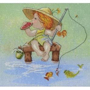 На рыбалке  Набор для вышивания МП Студия