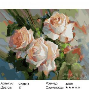 Количество цветов и сложность Душистые розы Раскраска картина по номерам на холсте