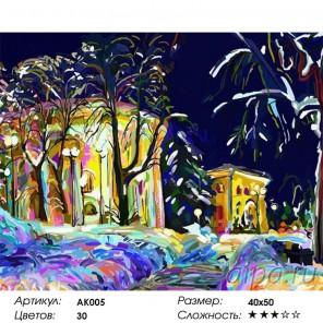 Сцена в ночном саду Раскраска картина по номерам Color Kit