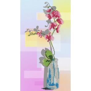 Орхидея Набор для вышивания бисером МП Студия
