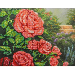 Красные розы Набор для вышивания бисером МП Студия