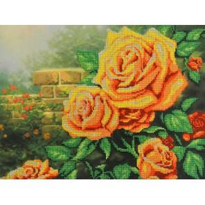 Желтые  розы Набор для вышивания бисером МП Студия