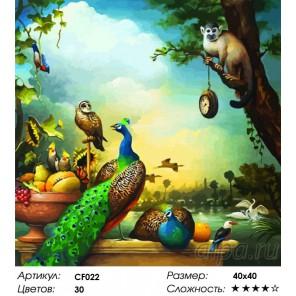 Натюрморт с павлинами Раскраска по номерам на холсте Color Kit