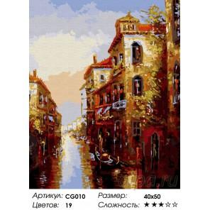 Канал в Венеции Раскраска по номерам на холсте Color Kit