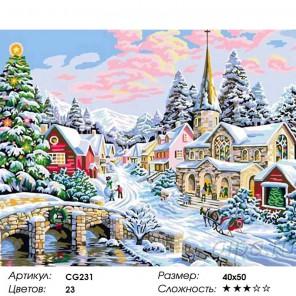 Зима Раскраска картина по номерам на холсте Color Kit