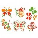 Бабочки Трафарет самоклеющийся 15х21 см Марабу ( Marabu )
