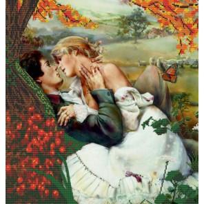 Влюблённые Канва с рисунком для вышивки бисером Конек