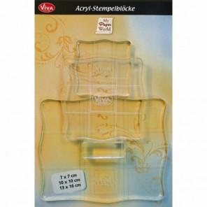 Акриловые блоки Набор основ для штампов Acryl-Blocke Viva Decor