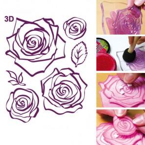 Розы 3D Силиконовые штампыдля скрапбукинга, кардмейкинга Viva Decor