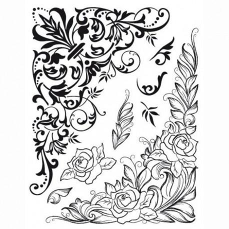 Уголки цветочные Силиконовые штампыдля скрапбукинга, кардмейкинга Viva Decor