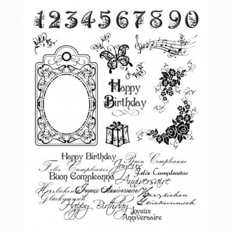 С днем рождения Штампысиликоновые прозрачные Набор для скрапбукинга, кардмейкинга Viva Decor